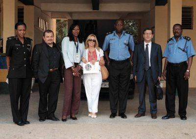 Con il capo della polizia ad Abuja