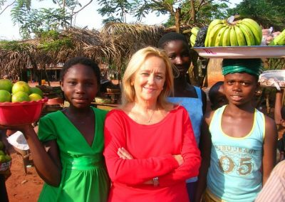Nel villaggio all interno del Benin