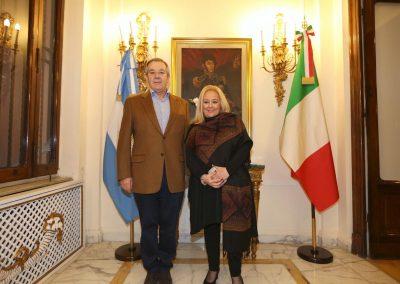 L Ambasciatore arhentino in Italia Tomas ferrari con il Presidente del Ciscos Ugl alla serata di beneficenza del Ciscos.